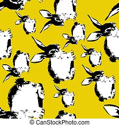 Easter Bunny Seamless Background Fashion Print