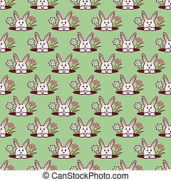 easter bunny seamless pattern2