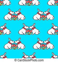 Easter bunny seamless pattern9