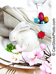 Easter Bunny Table Setting