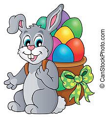 Easter bunny theme image 6 - eps10 vector illustration.