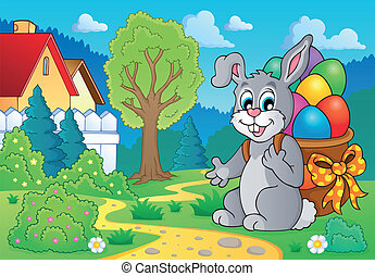 Easter bunny theme image 7 - eps10 vector illustration.