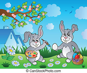 Easter bunny topic image 1