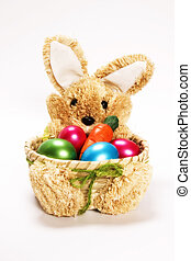 Easter bunny toy with eggs