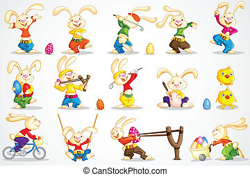 Easter Bunny - easy to edit vector illustration of Easter...