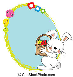 Easter bunny with a framework