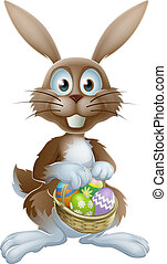 Easter bunny with chocolate eggs - An Easter bunny rabbit...