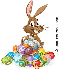 Easter Bunny with Eggs