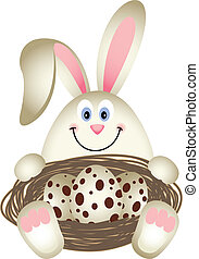 Easter Bunny with Quail Eggs