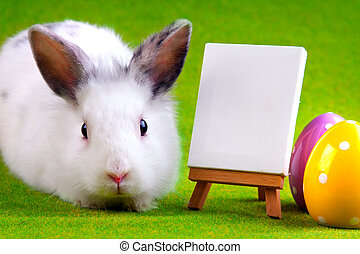 easter bunny with table