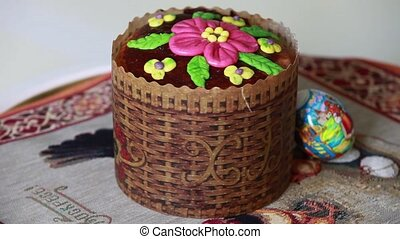 Easter cake   - Easter cake. Sequence. close to