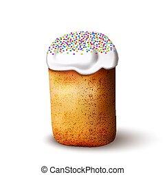 Easter cake isolated on white background