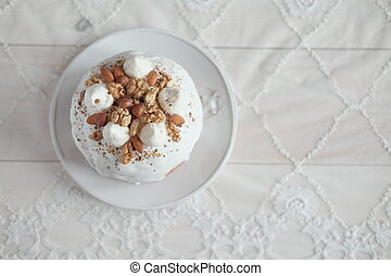 Easter cake on a plate