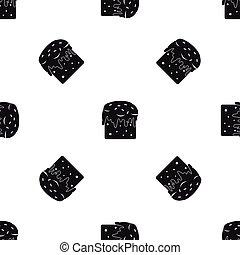 Easter cake pattern seamless black
