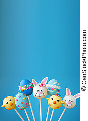 Easter cake pop background