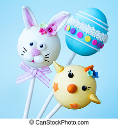 Easter cake pops - Cake pops with an Easter theme