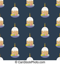 Easter cake seamless pattern