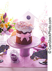 Easter cake with bow