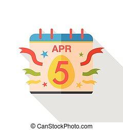 easter calendar flat icon