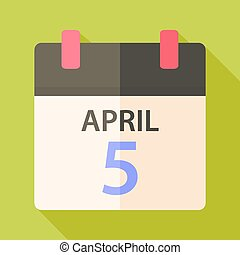 Easter calendar with date 5 april