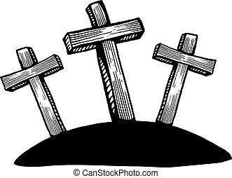 Easter Calvary Cross Scene