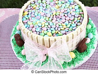 Easter candy in big bowl