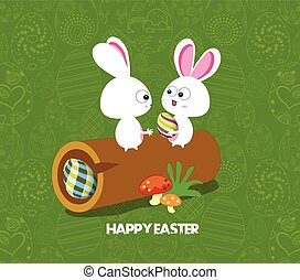 Easter card background - log