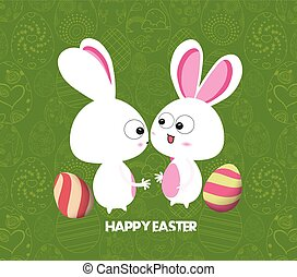 Easter card background with colored