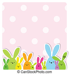 Easter card with copy space