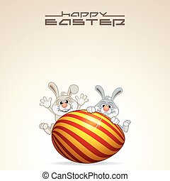 Easter Card Design. Vector