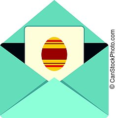 Easter card icon isolated