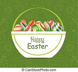 Easter card template - basket