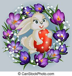 Easter card template - Illustration of Easter greeting card ...