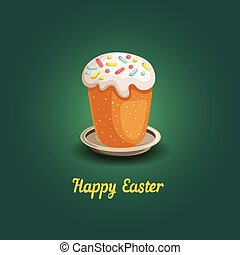 Easter card with cake