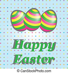Easter Card with colorful Egg