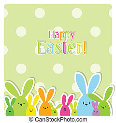 Easter card with copy space - Cute Easter card with copy...