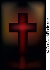 Easter card with cross, vector