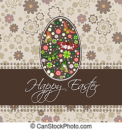 Easter card with egg