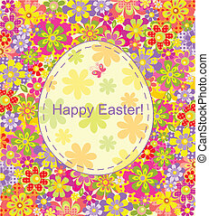 Easter card with flowers