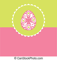 Easter card with  hand drawn egg
