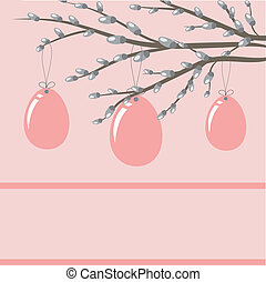 Easter card with hand drawn eggs