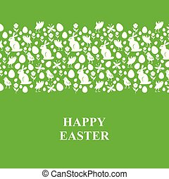 Easter card with horizontal ornament