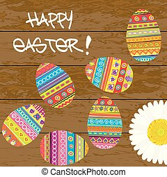 Easter card with painted Easter eggs