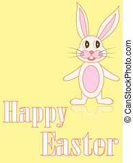 Easter card with rabbits in the vector