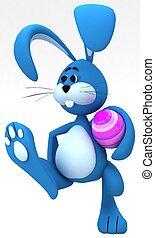 Easter carries Easter egg