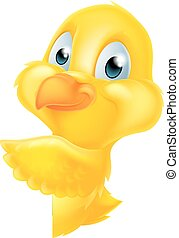 Easter Cartoon Chick Sign