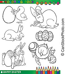 easter cartoon themes for coloring - Easter Themes...
