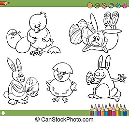 easter cartoons coloring book