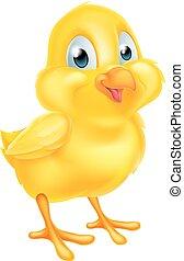 Cartoon baby chicken Easter chick bird