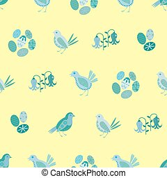 Easter chick seamless vector pattern background. Decorated ...